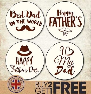 24x 40mm Happy Father's Day Stickers/Labels/Shop/Cards Best Dad/Daddy