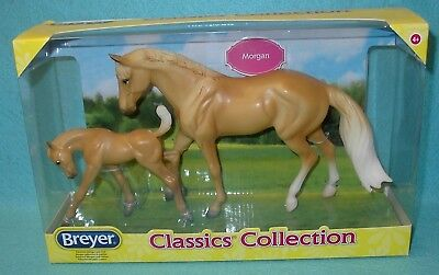 Breyer Classic Gorgeous Palomino Morgan And Foal #62045 New 2017