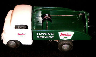 1950's Sinclair Towing Service Wrecker Tow Truck Custom Structo Dino Near Mint !