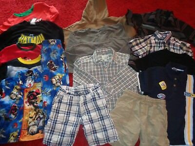 Huge Lot Of Boys Clothes Us Polo Childrens Place Shorts Shirts Wardrobe Size 6/7