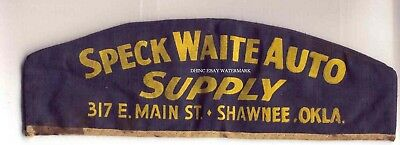 OLD Speck Waite Auto Supply Workers Employee Serviceman Hat Cap Shawnee Oklahoma