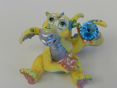 Mood Dragon ~ Dippy ~ Franklin Mint Limited Crystal Figurine Collectable
