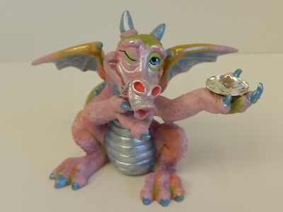 Mood Dragon ~ Coy ~ Franklin Mint Limited Crystal Figurine Collectable