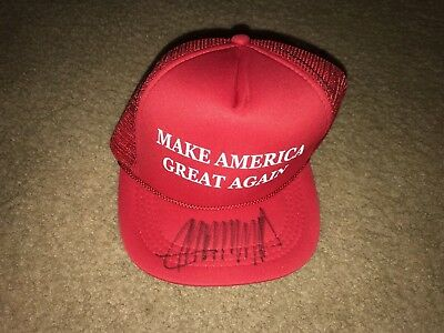 "President Donald Trump - Hand Signed ""make America Great Again"" Red Hat"
