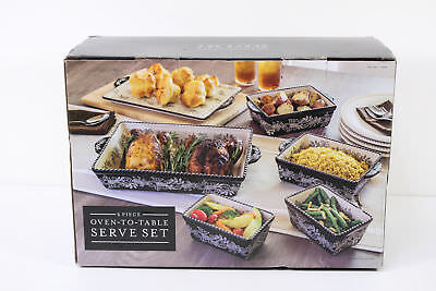 Baum 6 Piece Oven To Table Ceramic Serve Set Bakeware Oven