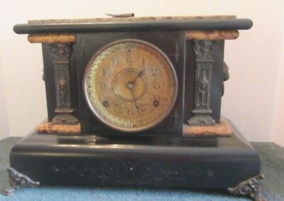 Seth Thomas Mantle Style ADAMANTINE CLOCK  Patented Sept 7 1880 w/Key No 102