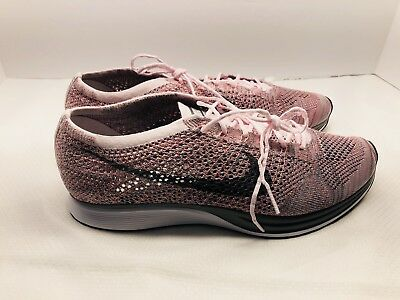 premium selection f151e 1742d Nike Flyknit Racer Pearl Pink-Cool Grey Sz 12.5  526628-604