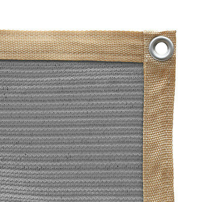 Shatex 90% Sun Shade Cloth with Grommets for Pergola Cover Canopy 10x20ft Grey