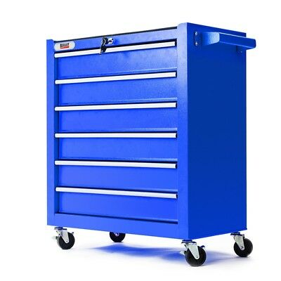 6 Drawer Tool Box Cabinet Trolley Garage Toolbox Storage Mechanic Chest