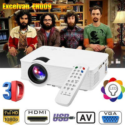 3000 lumens Home Cinema theater HDMI/USB/SD/AV/VGA/ LED Vidéo Projecteur