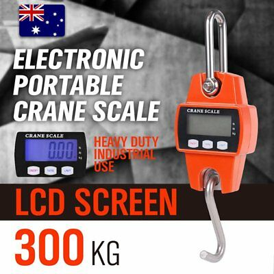 Portable Crane Scale 300kg 0.1kg Heavy Duty Electronic Hook Hanging Scale OZ