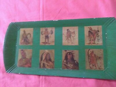 Haskelite Tray with True Native American Indian Lithogragh Picture