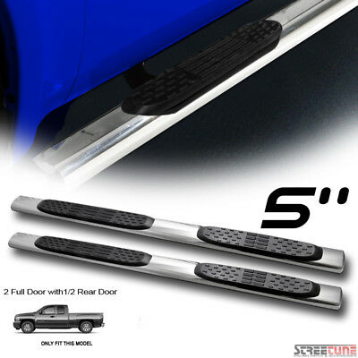 """For 07-18 Silverado//Sierra Crew Cab 5/"""" Chrome Stainless Step Bars Running Boards"""
