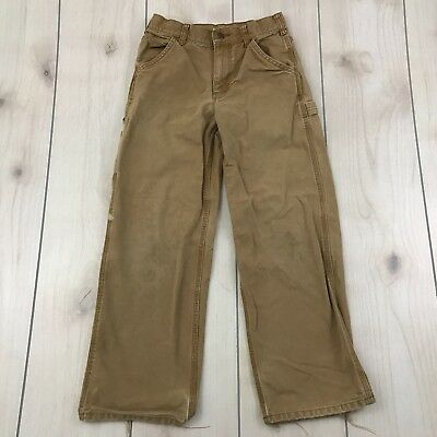 CARHARTT YOUTH Size 12 Duck Brown Pants 25L Carpenter