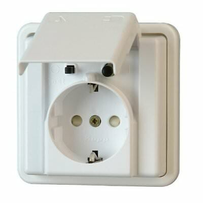 Kopp 916602017di Personal Protection Socket with Cover Flush-Mounted Moisture-P