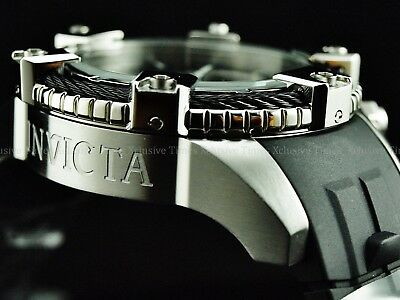 ALL NEW Invicta 50mm Men's Black Hybridized Bolt Chronograph SS Strap Watch