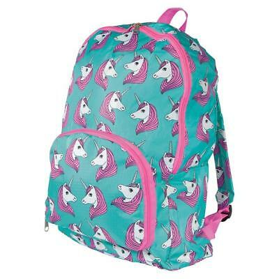 NEW iS Gift Fun Times Foldable Backpack - Unicorns - Girls Bag
