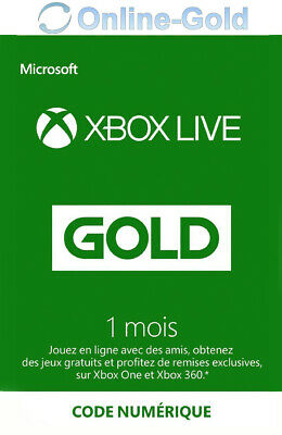 1 Mois Xbox Live Gold Subscription Card - 1 Month Xbox Live Gold Key – fr