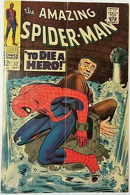 AMAZING SPIDER-MAN #52 Sep 1967, Marvel Comics SOLID MID TO HIGH GRADE NICE!!