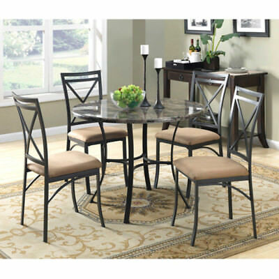 Dining Table Set Low Price Marble Kitchen Cute Family Dinner Counter  5-Piece NEW b8a20836c0ef