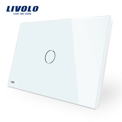 LIVOLO LED Crystal Glass Touch Light Switch AU Standard No Power Point Wifi