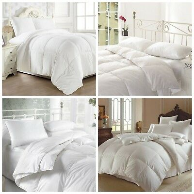 39d9170daebf Luxury Duck Feather & Down Duvet Quilt 13.5 Tog Bedding All Sizes Hotel  Quality