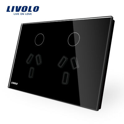 Livolo AU Standard Outdoor Power Socket With Touch Wall Light Switch