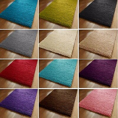 Large & Small Non-Skid Thick Plain Silky Soft Modern Luxury Shaggy Door Rugs Mat