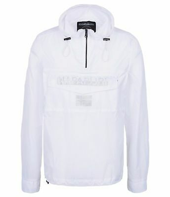 Napapijri Overhead Jacket Hooded Lightweight Ripstop Size S in White RRP130!!