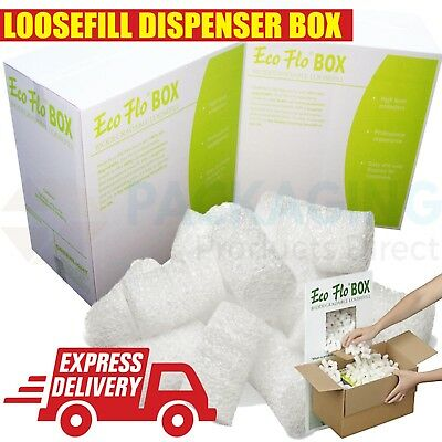 Eco Flo Biodegradable Dispenser BOX Loosefill/Void Filler - 120 Litres x 1 Box