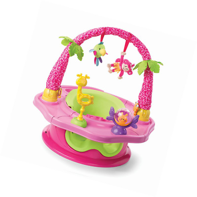 3 Stage Deluxe Super Seat Giggles Island Two Cup Holders 6 Playful Soft Foam Toy