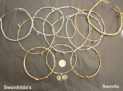 Larp Viking Handcrafted Plain Wire Wrist/Arm-Ring Swsw