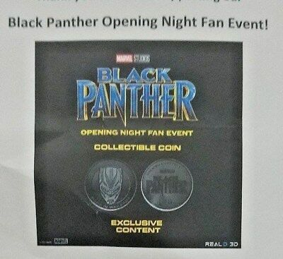 Black Panther Movie (2018) Promo Coin Opening Night Fan Event RealD 3D SWAG