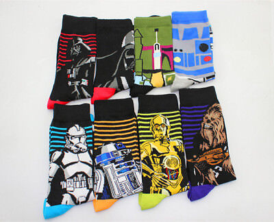 Star Wars The Last Jedi fashion Funny cotton socks men Crew long happy socks