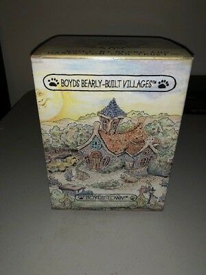 """2000 Boyds Bearly Built Village """"the Chapel In The Woods""""  #19003 1E Brand New"""