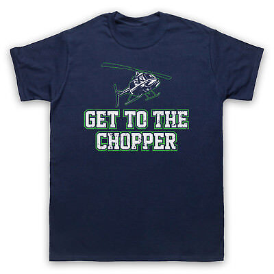Get To The Chopper Funny Arnie Slogan Parody Joke Mens Womens Kids T-Shirt
