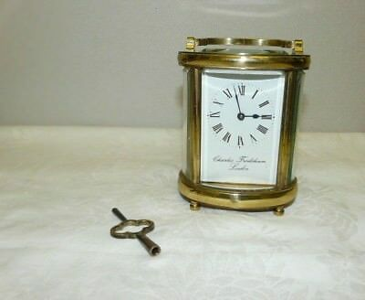 Vintage Brass Oval Carriage Clock Charles Frodsham
