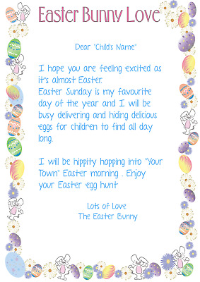 Personalised Letter From The Easter Bunny A4 Premium HQ Photo Paper