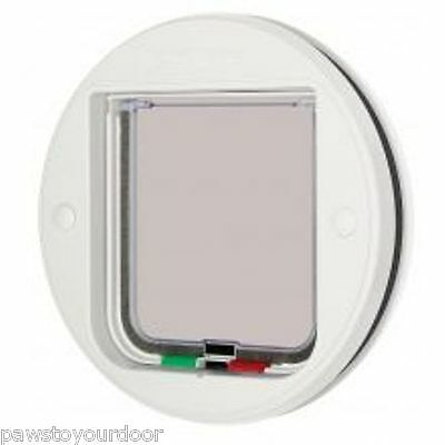 Cat Mate 4 Way Locking Cat Flap Glass Fitting White Catflap Pet Door 210W