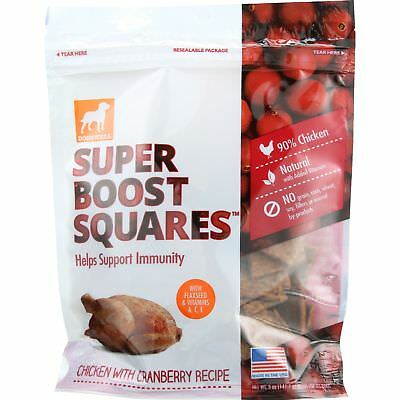 Dogswell Dog Treats - Super Boost Squares - Immunity - Chicken with Cranberry -