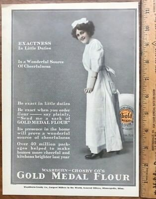 1912 Original Full Page Ad Advertising Gold Medal Flour