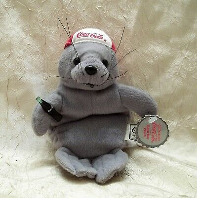 Coca-Cola Seal With A Baseball Cap Plush Toy 1997