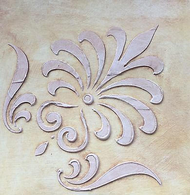 Wall Stencil, Plaster Stencil, Furniture Stencil, Corner Scroll