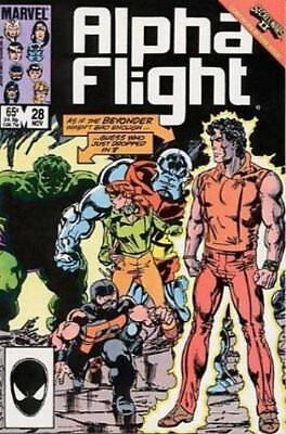 Alpha Flight (Vol 1) #  28 (VryFn Minus-) (VFN-) Marvel Comics AMERICAN