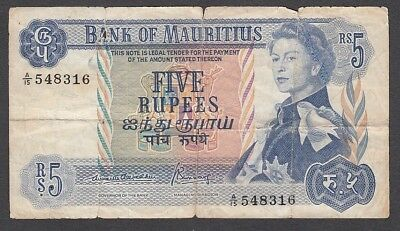 5 Rupees From Mauritius A6