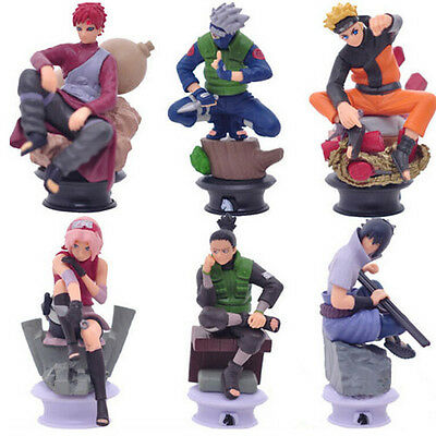 Anime Naruto Set of 6x Scene Action Figures Model Collectible Gift Toy 35th Ver.