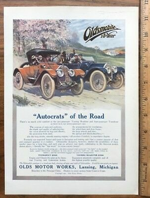 1912 Original Full Page Ad Advertising - Oldsmobile 14Th Year - Olds Motor Works