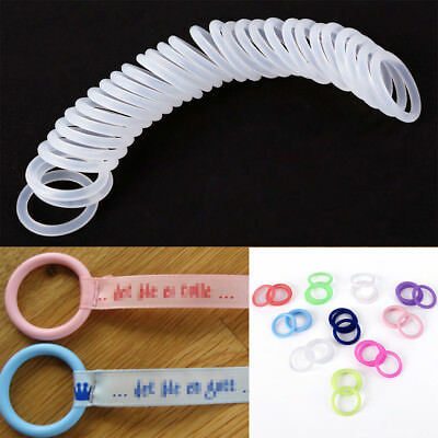 O Ring 10 PCS Baby Newborn Soother Clip Silicone Colorful Safe Pacifier Nipple