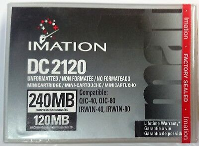 Imation DC2120 • QIC-40+80 • IRWIN-40+80 • unformated • 240MB (NEU-OVP)