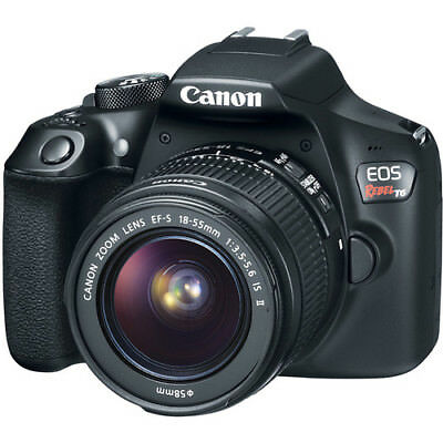 Canon EOS Rebel T6 DSLR Camera (Black) with 18-55mm Lens